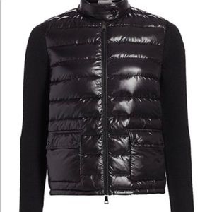 Moncler Lacquer Knit Sleeve Combo Puffer Jacket XS